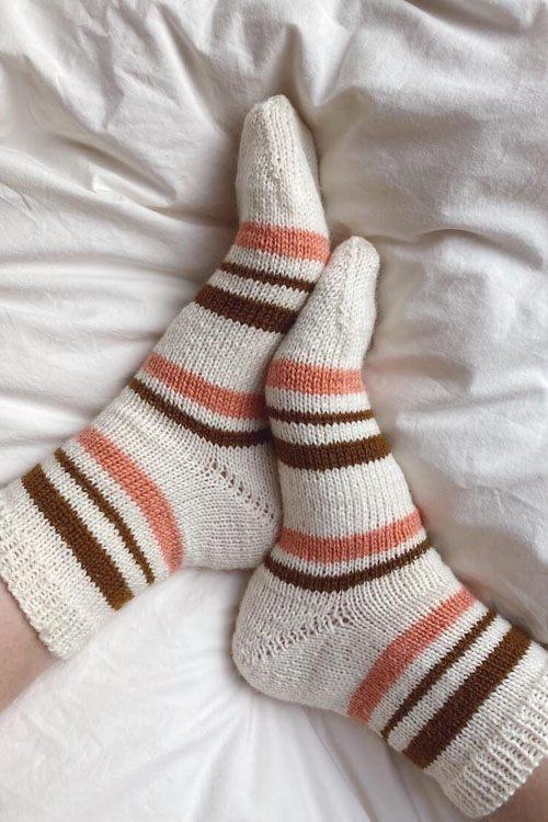 everyday socks lyse med striber
